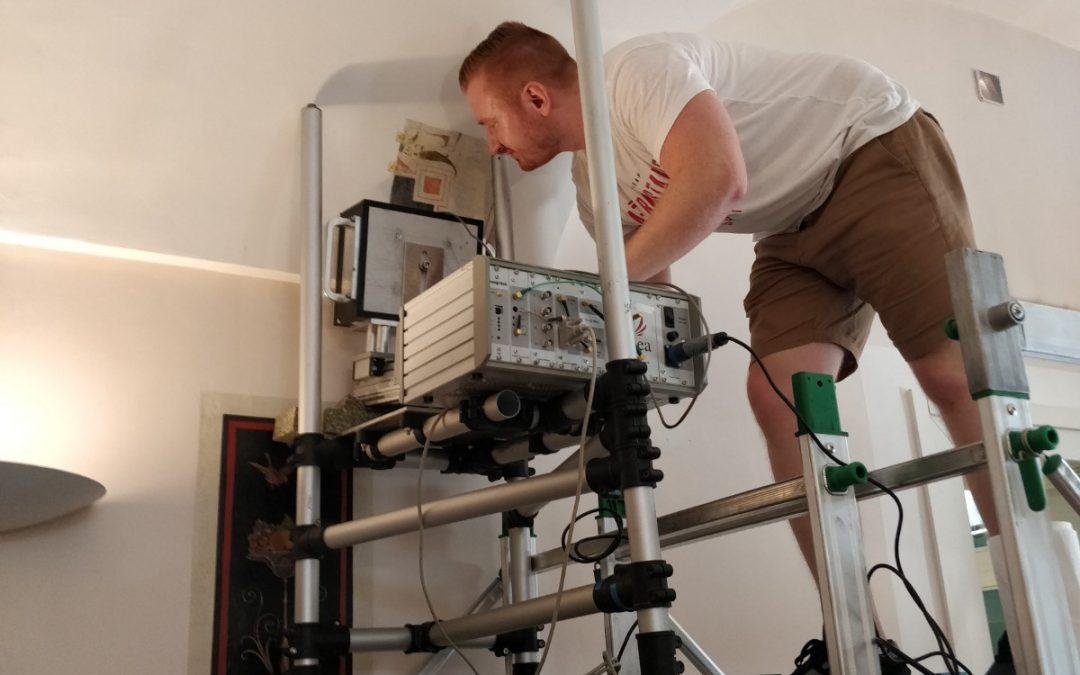 MOLAB_Germany investigates wall paintings in Barberini's lodge in Villa Sciarra, Rome