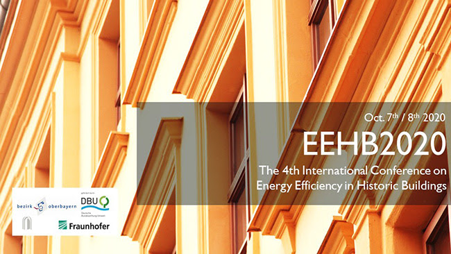 Call for abstracts: The 4th International Conference on Energy Efficiency in Historic Buildings – October 2020 – Benediktbeuern, Germany